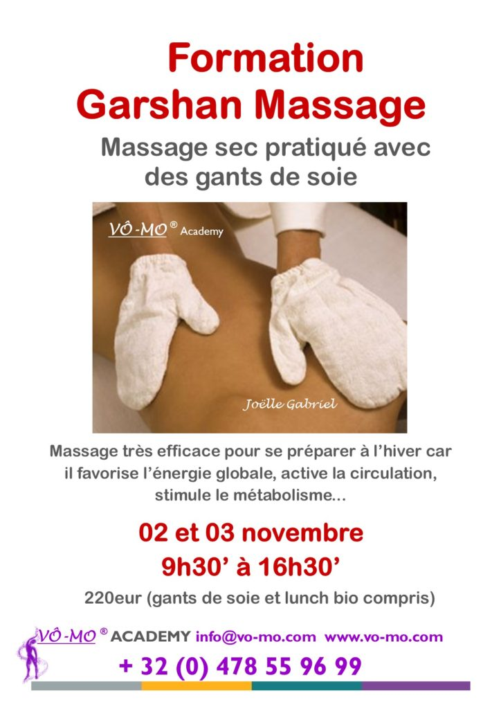 Formation Garshan Massage @ VÔ-MO Academy
