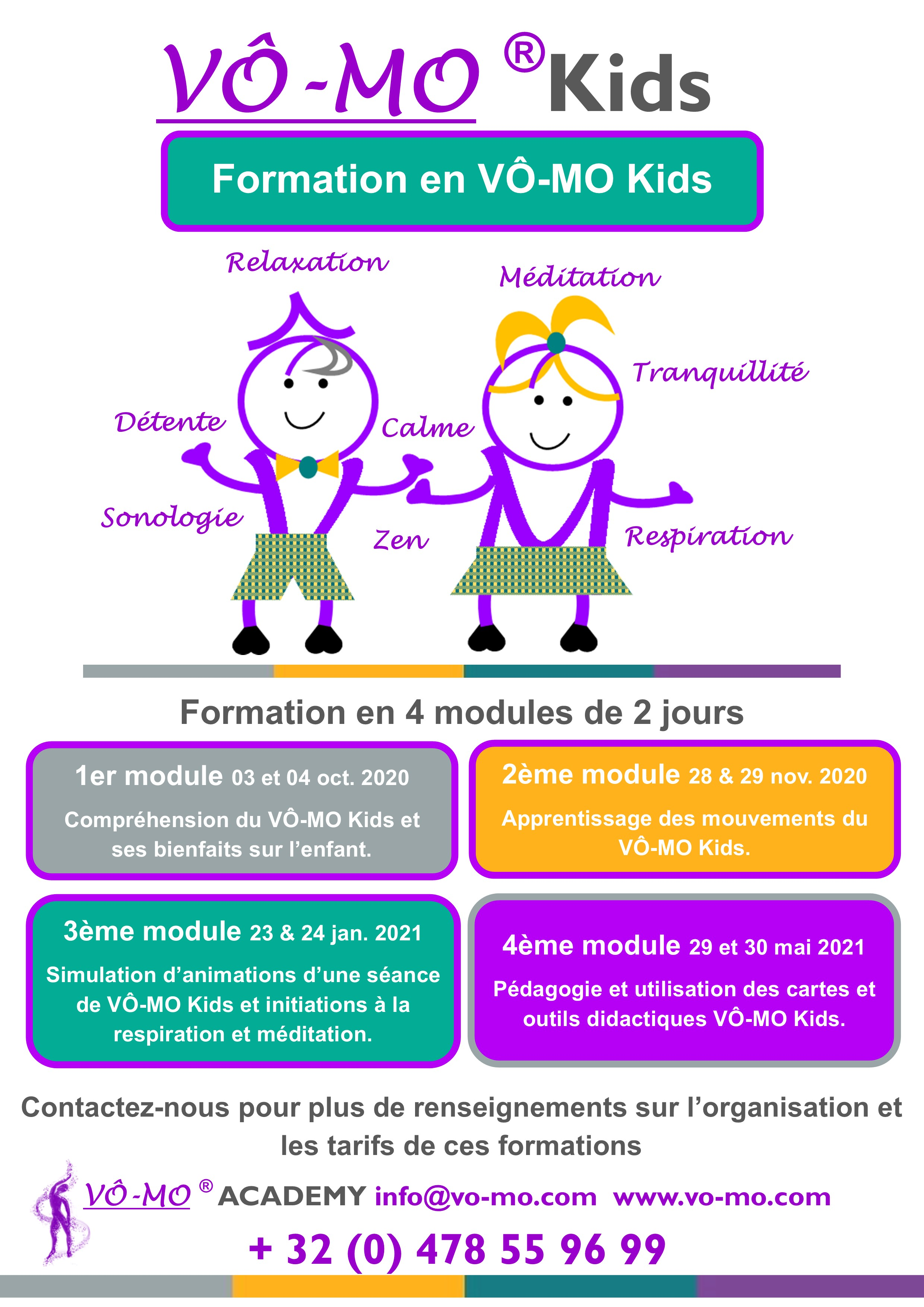 Formation en VÔ-MO Kids - module 1 @ VÔ-MO Academy