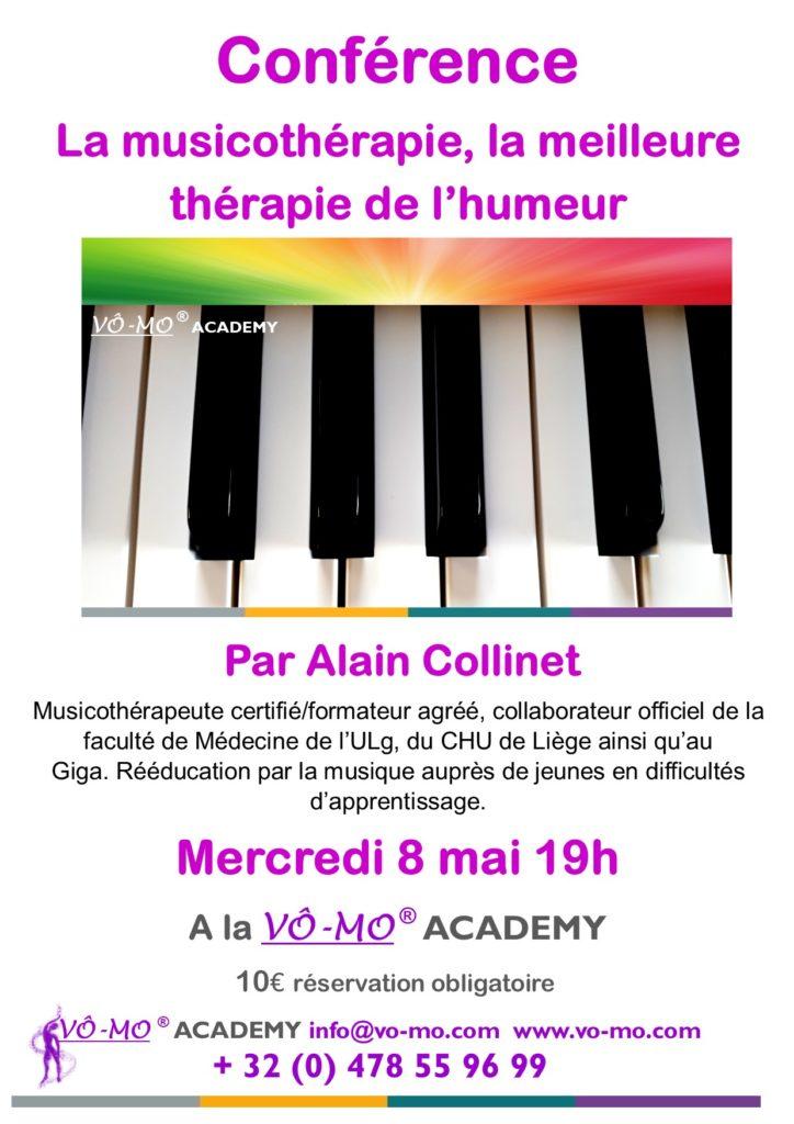 Conférences - La Musicothérapie est la meilleure thérapie de l'humeur @ VÔ-MO Academy