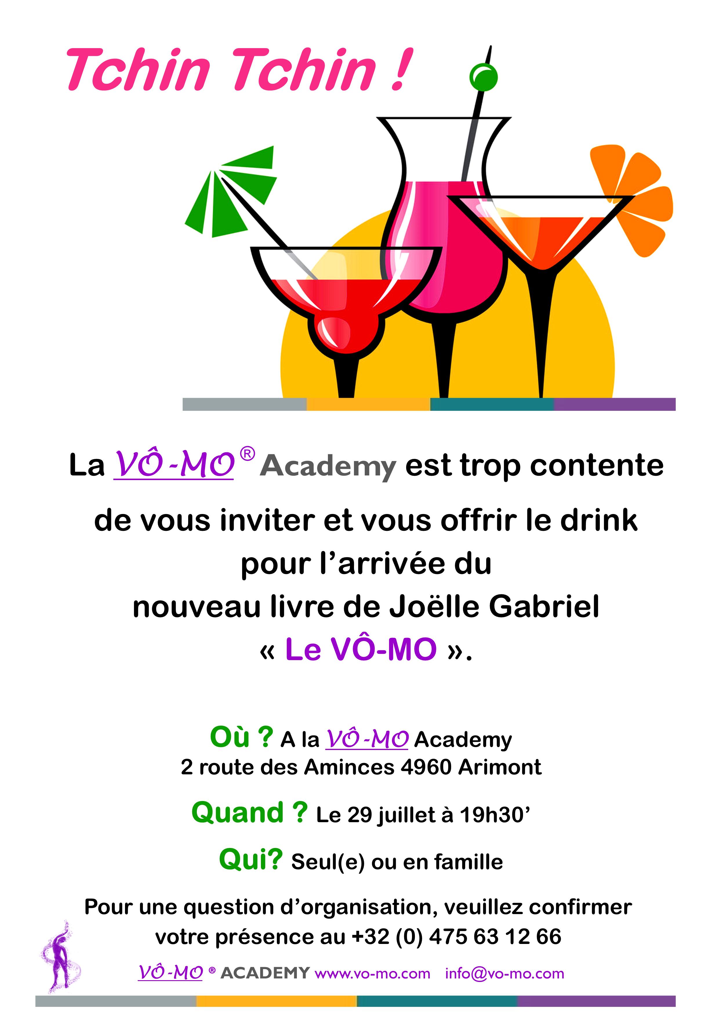 Drink pour l'arrivée du nouveau livre de Joëlle Gabriel @ VÔ-MO Academy