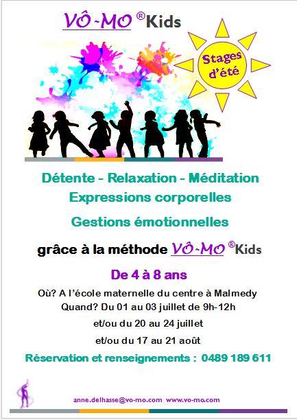 Stages d'été VÔ-MO kids (2) @ Ecole maternelle du Centre