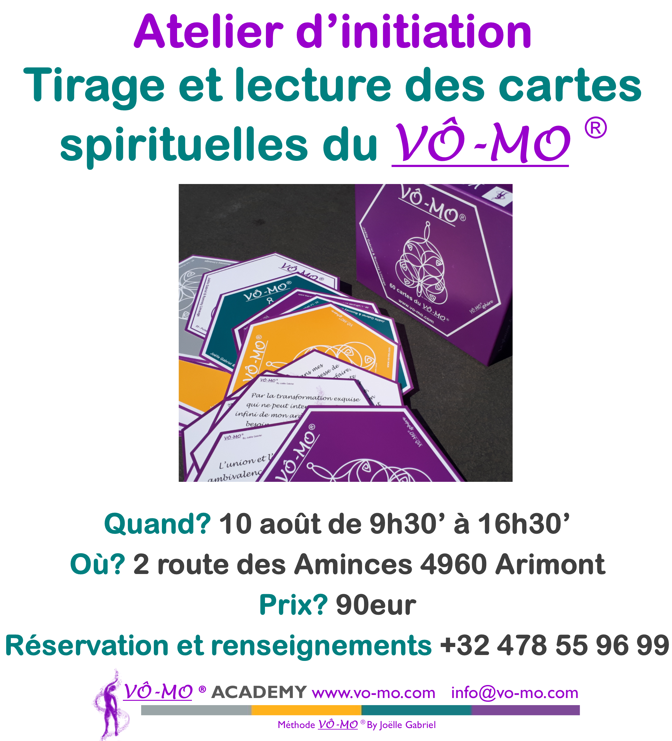 Atelier cartes spirituelles du VÔ-MO @ VÔ-MO Academy