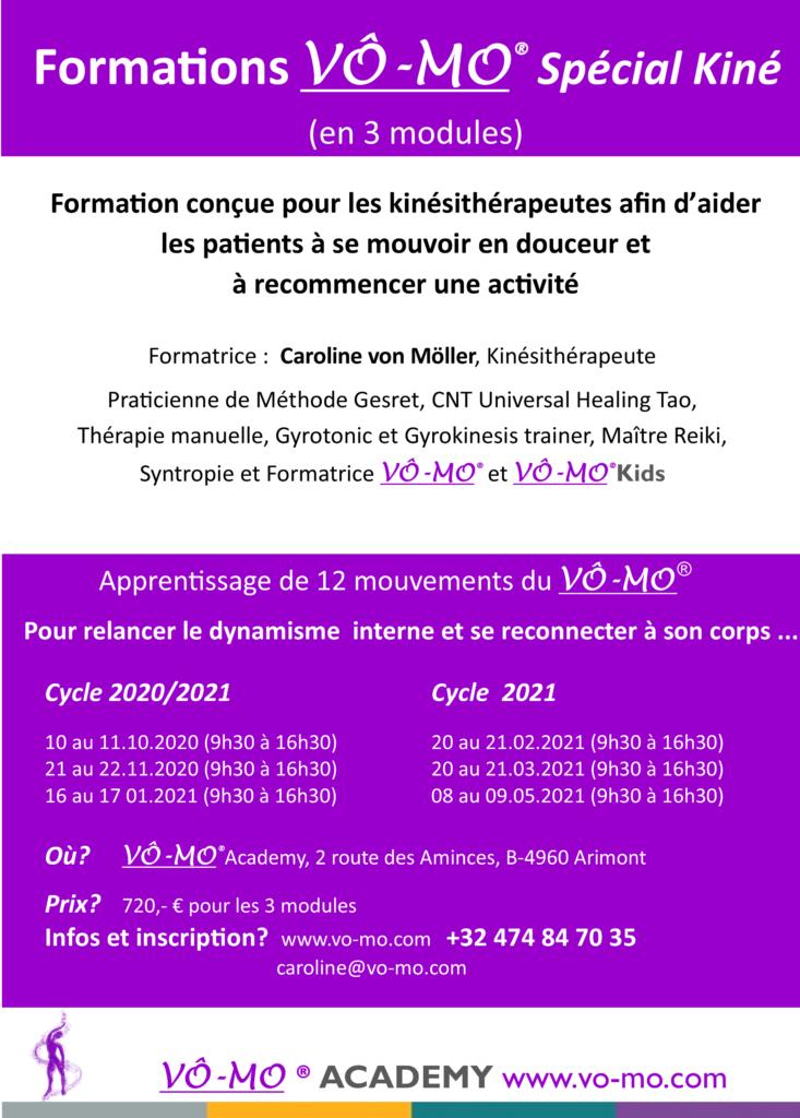 Formations VÔ-MO Spécial Kiné en 3 modules @ VÔ-MO Academy